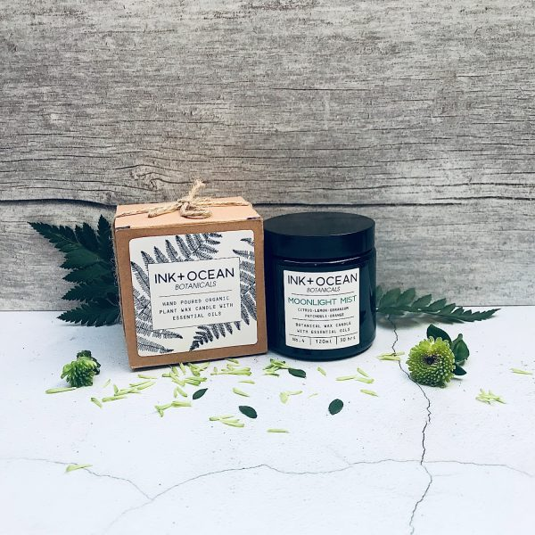 plant wax organic candle