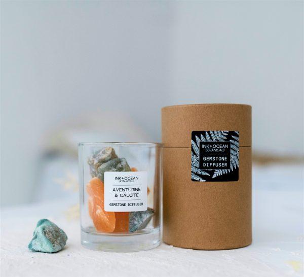 Aventurine and Orange Calcite Gemstone Diffuser
