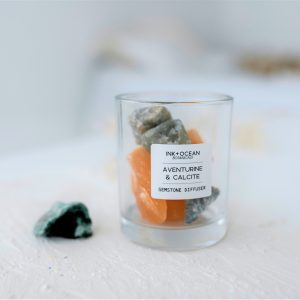Aventurine and Orange Calcite Gemstone Diffuser