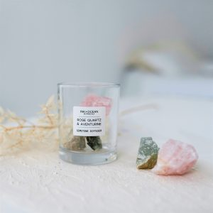Rose Quartz and Aventurine Gemstone Diffuser