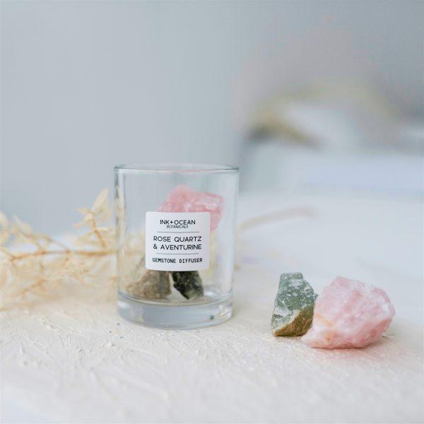 Rose Quartz and Aventurine Gemstone Diffuser