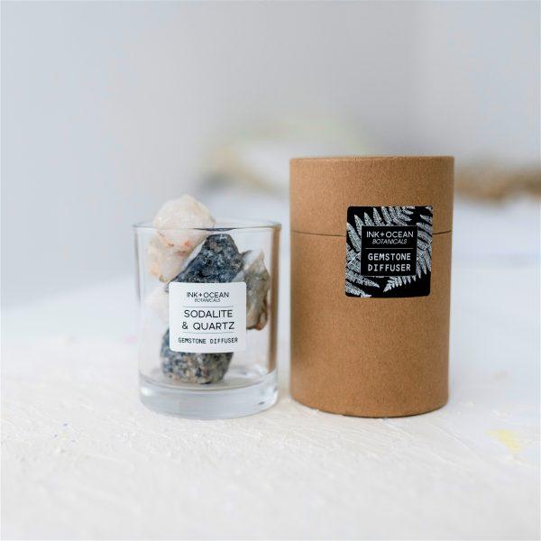 Blue Sodalite and Quartz Gemstone Diffuser