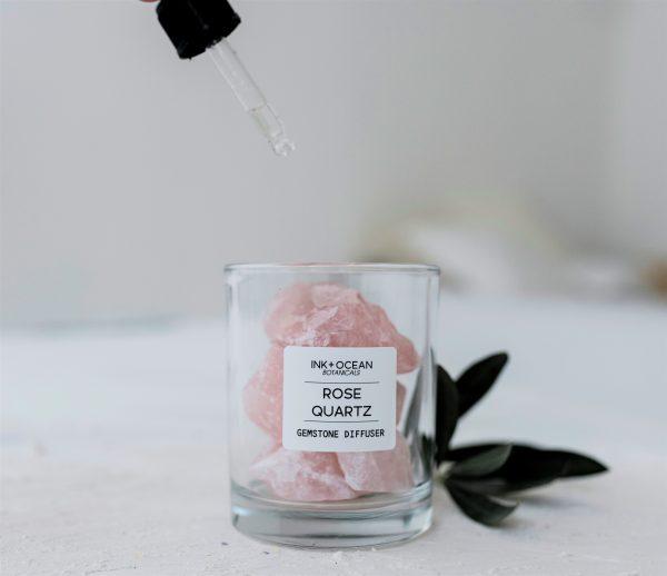rose quartz gemstone diffuser